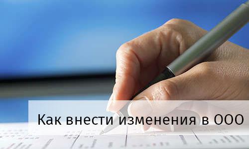 внесение изменений в ООО инструкция